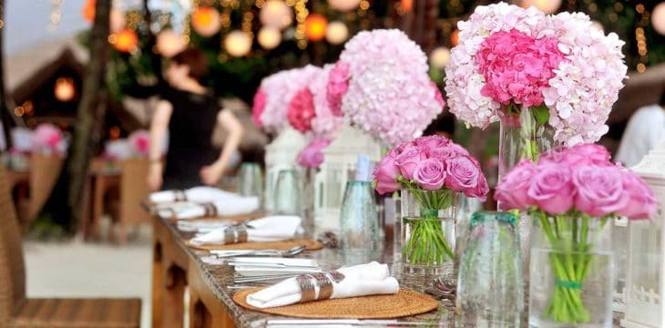 allestimento tavolo da wedding planner