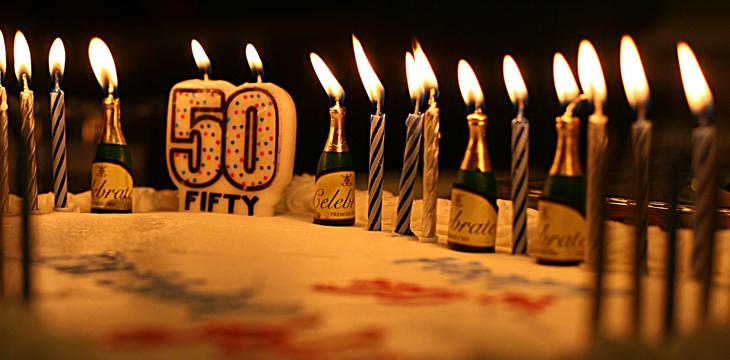 candeline 50° compleanno