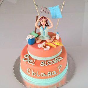 torta con scritta sei sicura? nubilato