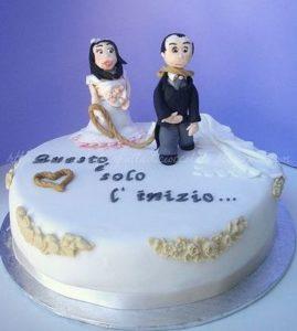 torta con sposo al cappio