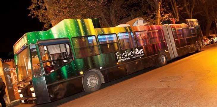fashion bus location per feste Roma