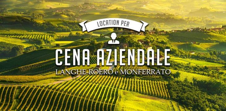 Cena aziendale Langhe Roero Monferrato