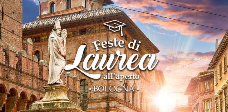 Festa di laurea a Bologna all'aperto