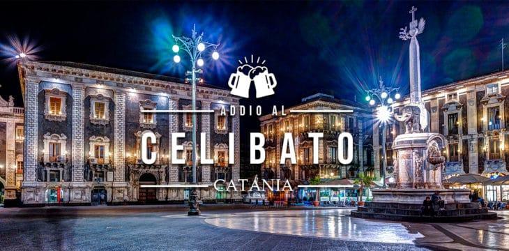 Catania di notte con luci